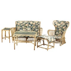Wengler, a Bamboo and Wickerwork Lounge Set