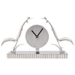 Werkstätte Hagenauer Vienna Clock with Roosters Franz & Karl Hagenauer