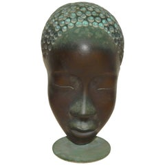 Werkstatte Hagenauer Wien Bronze African Female