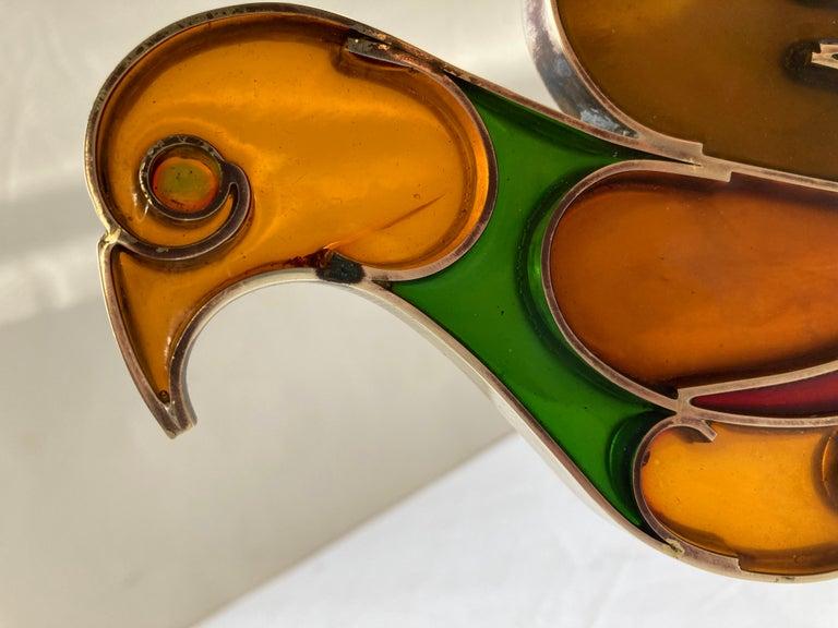 Hand-Crafted Werkstatte Hagenauer Wien, Dove/Bird, Resin/Brass, Sculpture, Signed For Sale