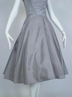 Werlé Beverly Hills Draped Portrait Collar Ballerina Dress, 1950s