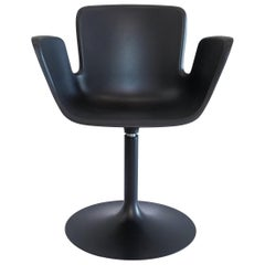 Werner Aisslinger Juli Plastic Chair in Anthracite Metal Base by Cappellini