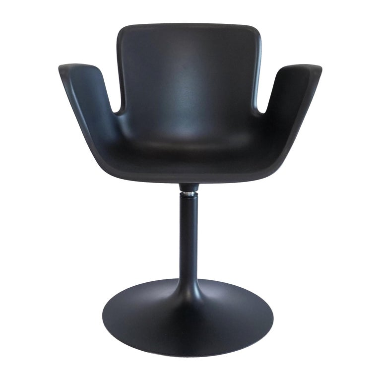 For Sale: Black (48 Anthracite) Werner Aisslinger Juli Plastic Chair in Metal Base & Plastic Shell by Cappellini