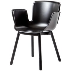 Werner Aisslinger Juli Plastic Chair with Graphite Black Seat by Cappellini