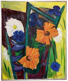Summer Flowers by Werner Drewes. Signed and Dated