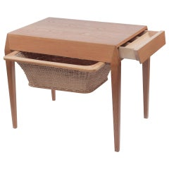 Werner Fredriksen Swedish Sewing Table for Eric Gustavssons Möbelfabrik, 1960s