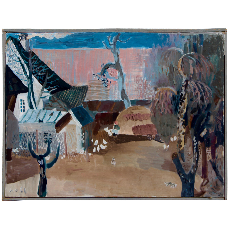 Werner Holenstein 1966 Painting on Linen