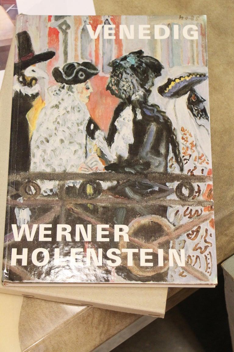 Werner Holenstein Oil on Linen of a Bar Scene For Sale 6
