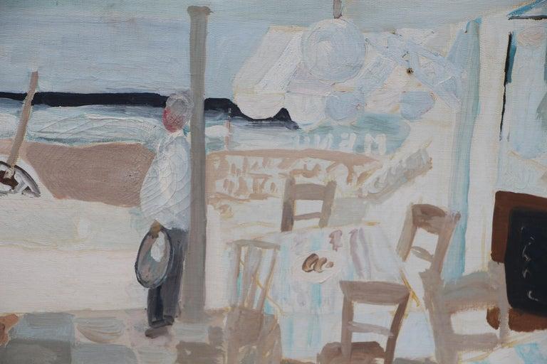 Werner Holenstein Oil on Linen of a Bar Scene For Sale 1