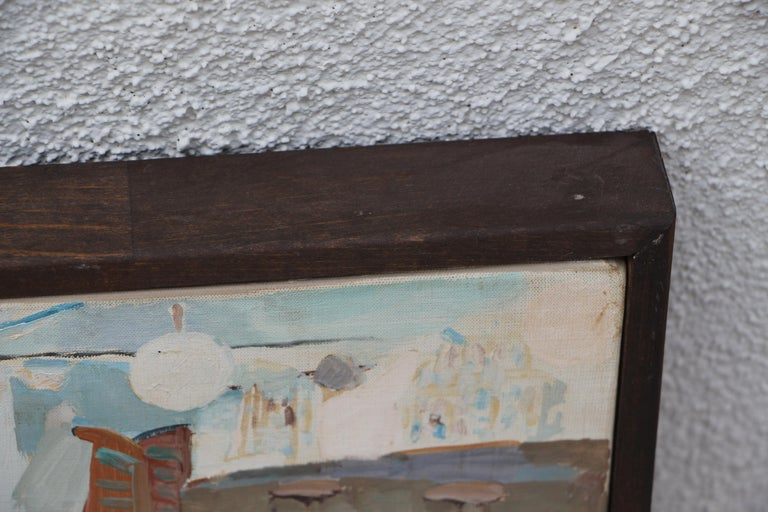 Werner Holenstein Oil on Linen of a Bar Scene For Sale 2