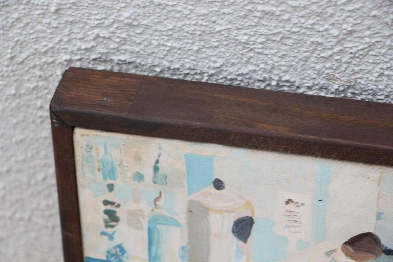 Werner Holenstein Oil on Linen of a Bar Scene For Sale 3