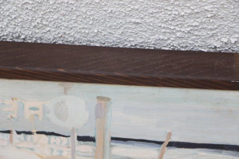 Werner Holenstein Oil on Linen of a Bar Scene For Sale 4