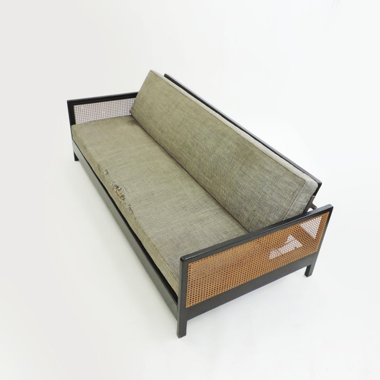 Rare Architect Werner Max Moser sofa for Wohnbedarf, Switzerland, 1930s.