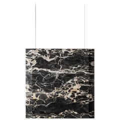 """Werner Sr. Portoro"" Contemporary Ceiling Marble Lamp, in Stock"