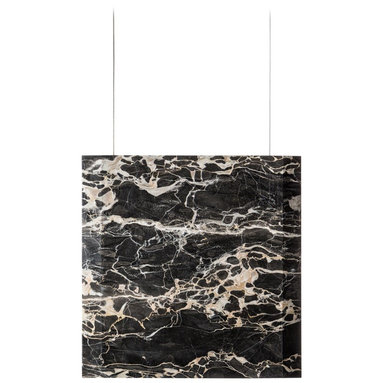 """""""Werner Sr. Portoro"""" Contemporary Ceiling Marble Lamp, in Stock For Sale"""