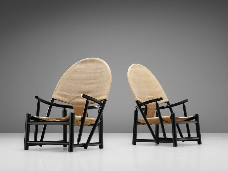 Piero Palange & Werther Toffoloni, pair of lounge chairs