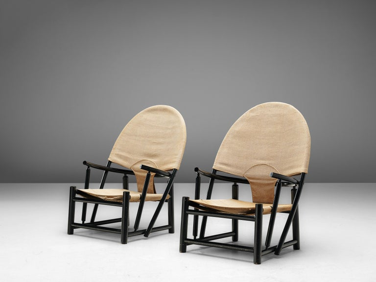 Italian Werther Toffoloni & Piero Palange Pair of Lounge Chairs Model 'G23' For Sale