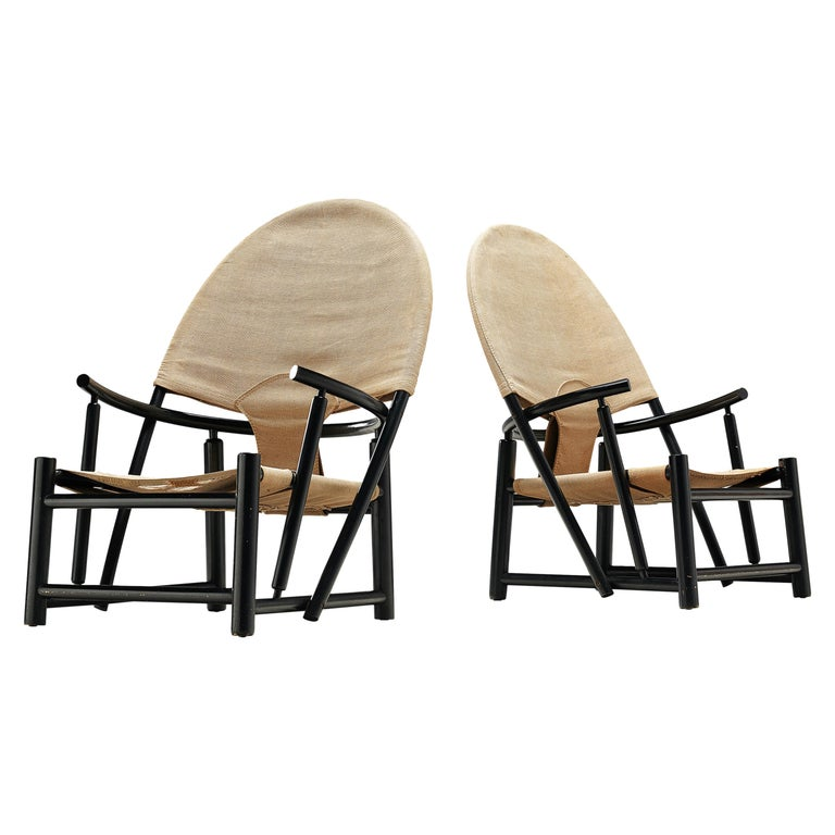 Werther Toffoloni & Piero Palange Pair of Lounge Chairs Model 'G23' For Sale