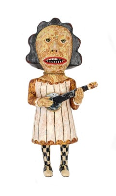 Banjo Lady, 2018, ceramic earthenware sculpture