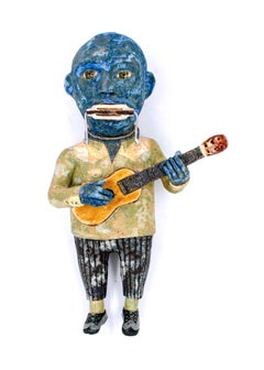 Blues Man, 2018, ceramic earthenware sculpture