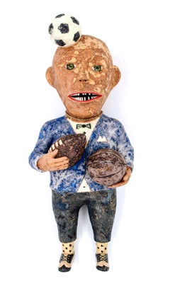 Finally a Man with Balls, 2018, ceramic earthenware sculpture