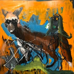 Hot Fox in the Henhouse - Large Scale Abstract Expressionist Painting