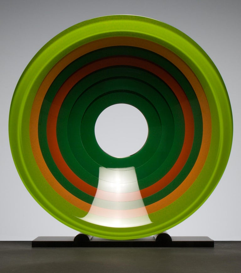 Fresh - Green Abstract Sculpture by Wesley Neal Rasko