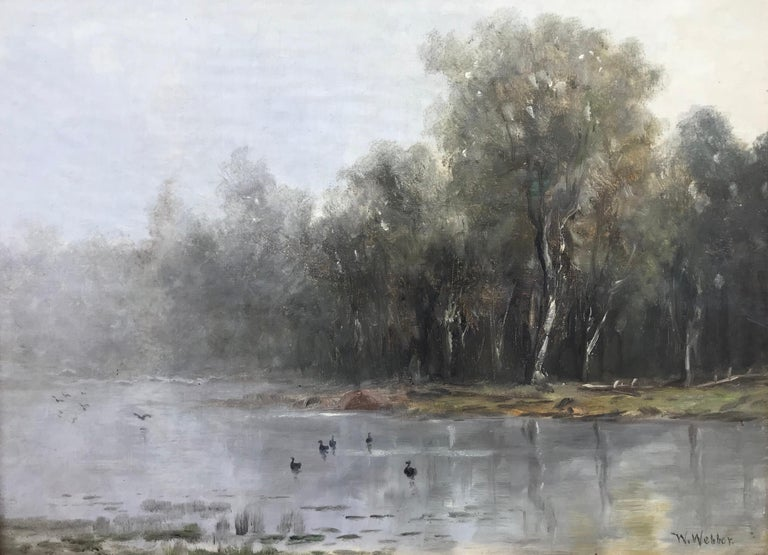 "Wesley Webber Landscape Painting - ""Misty Morning"""