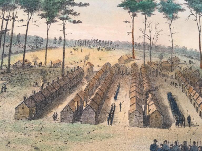 Original Civil War lithograph depicting