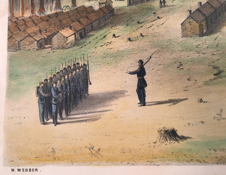 Camp Leavitt.  Winter Quarters of the 16th Maine Regiment, March 18, 1865 For Sale 1