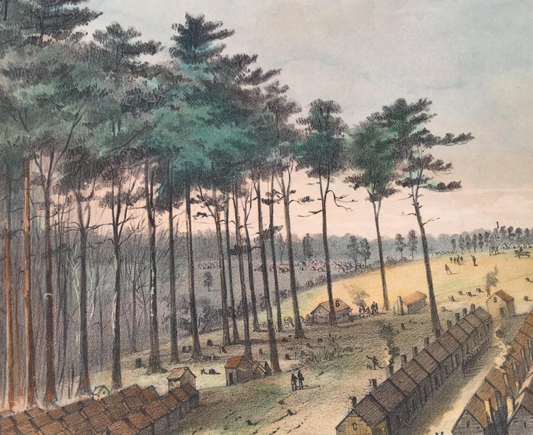 Camp Leavitt.  Winter Quarters of the 16th Maine Regiment, March 18, 1865 For Sale 2