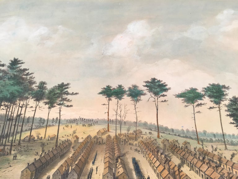 Camp Leavitt.  Winter Quarters of the 16th Maine Regiment, March 18, 1865 For Sale 3