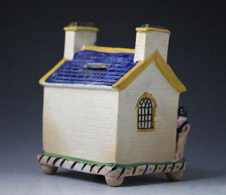 Wesleyan Chapel Money Box Mexborough Pottery Yorkshire Named William Lockel  1840