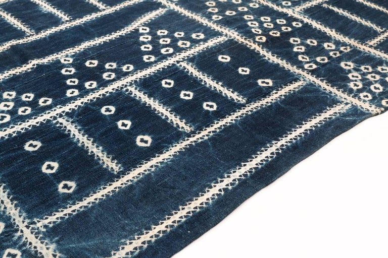 Tribal West African Indigo Textile For Sale