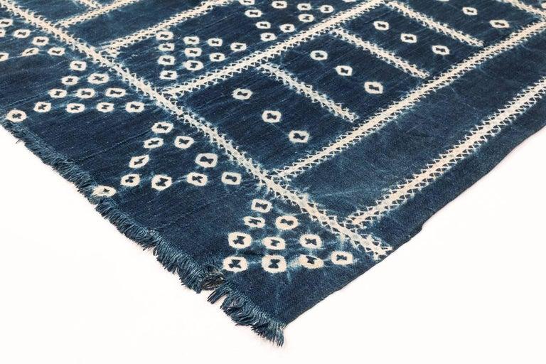 Burkinabe West African Indigo Textile For Sale