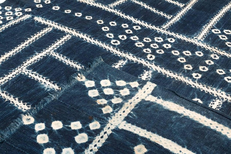 Hand-Woven West African Indigo Textile For Sale