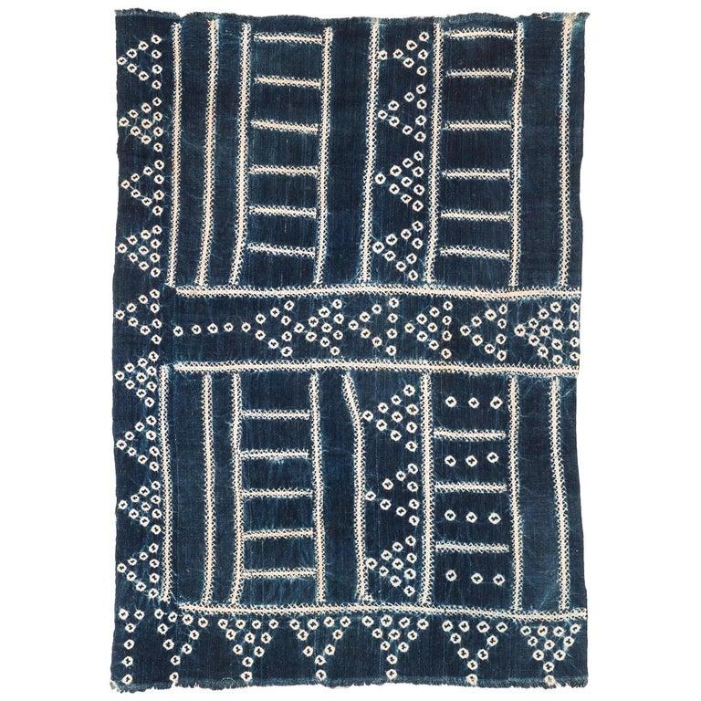 West African Indigo Textile For Sale