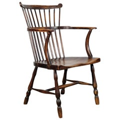 West Country Comb Back Windsor Chair, English, Elm and Ash, Country, Armchair