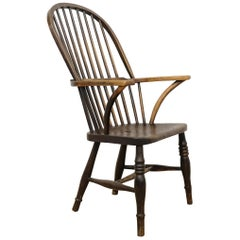 West Country Windsor Armchair, English, Devonshire, Elm and Ash, 1830s Chair