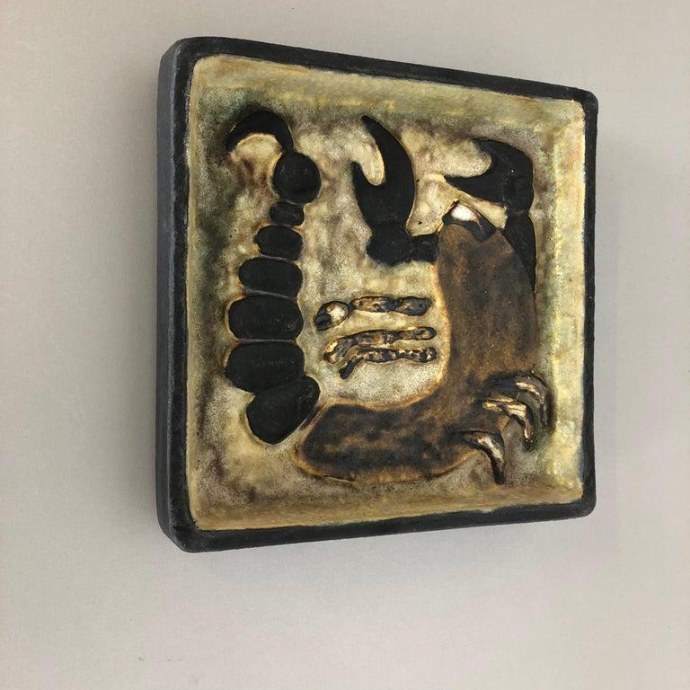 Mid-Century Modern West German Ceramic Wall Plate