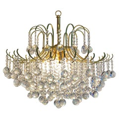 West German Crystal Chandelier