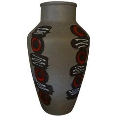 West German Glazed Pottery Vase