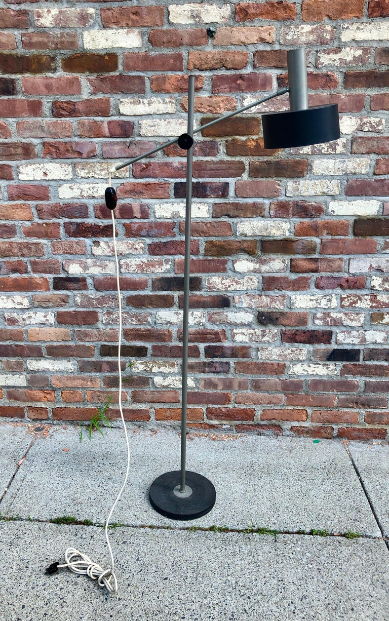 West German Modernist Floor Lamp In Good Condition For Sale In Hudson, NY