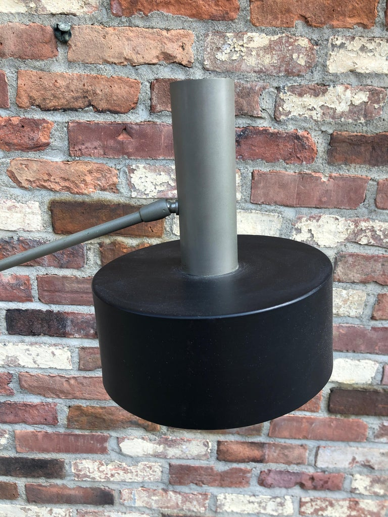 Steel West German Modernist Floor Lamp For Sale