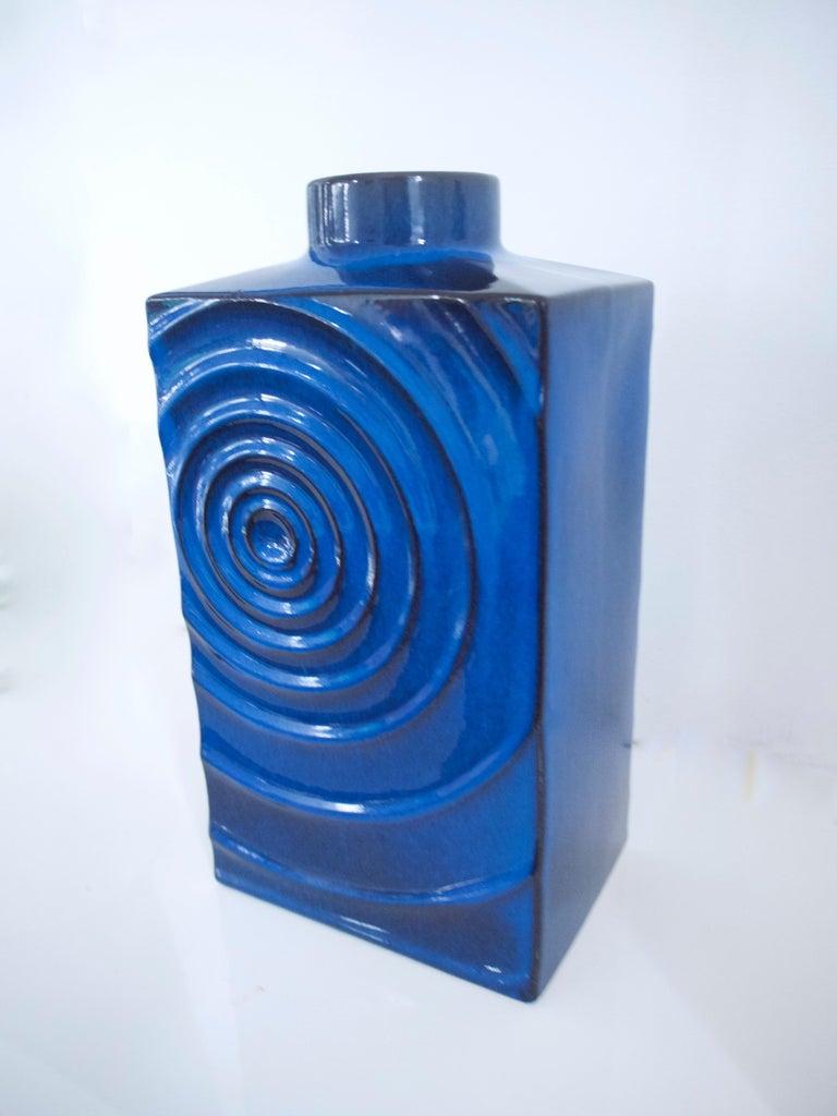 Ceramic West German Pottery Vases Zyklon Op Art by Cari Zalloni for Steuler, 1960s For Sale
