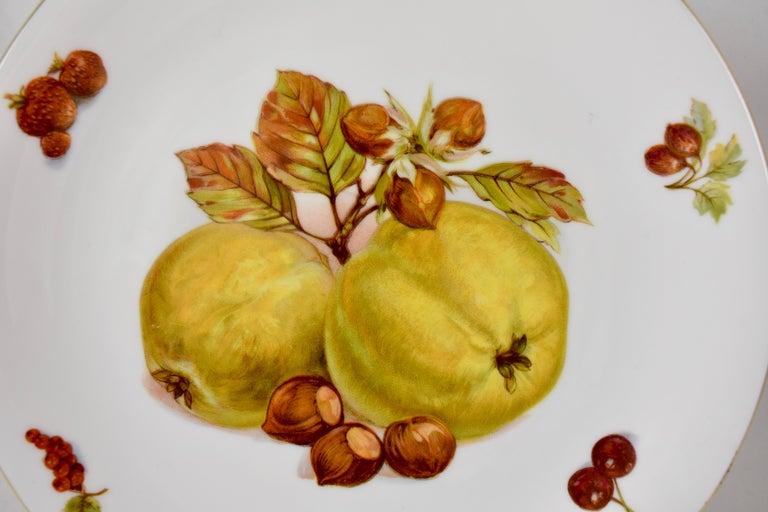 West German Selten Weiden Autumn Fruit & Nuts Porcelain Plates, Set of 8 For Sale 4