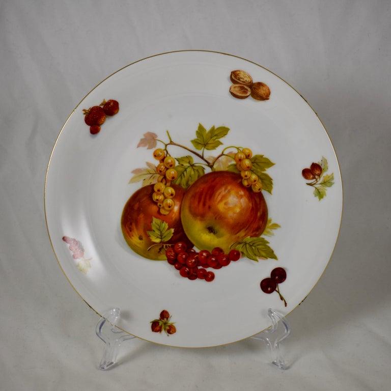 West German Selten Weiden Autumn Fruit & Nuts Porcelain Plates, Set of 8 For Sale 5
