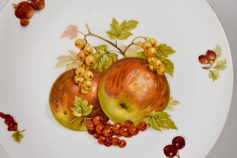 West German Selten Weiden Autumn Fruit & Nuts Porcelain Plates, Set of 8 For Sale 6