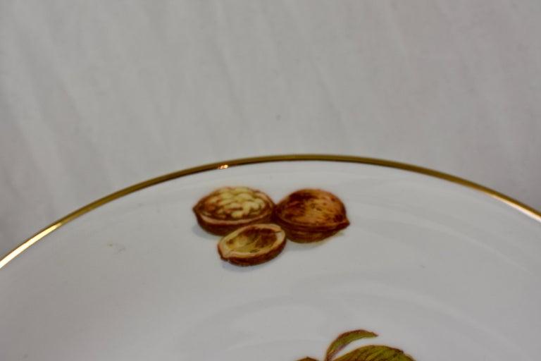 West German Selten Weiden Autumn Fruit & Nuts Porcelain Plates, Set of 8 For Sale 8
