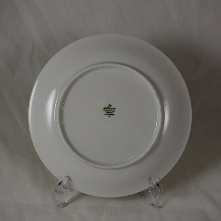 West German Selten Weiden Autumn Fruit & Nuts Porcelain Plates, Set of 8 For Sale 10